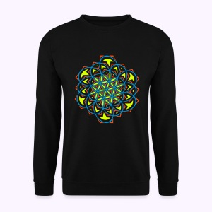 Flower of Life Twisted Mens Sweater - Mannen sweater