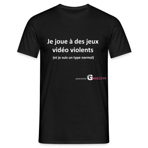 Jeux vidéo violents... - T-shirt Homme