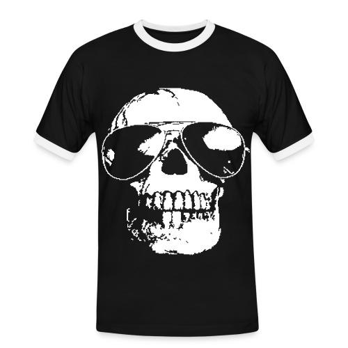 Sunglased Skull - Männer Kontrast-T-Shirt