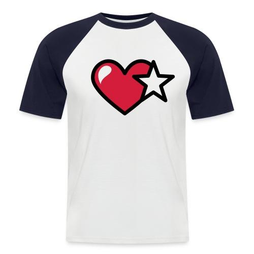 T-shirt con icona Stella - Cuore stilizzata - Maglia da baseball a manica corta da uomo