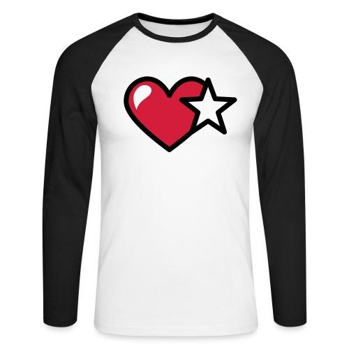 T-shirt con icona Stella - Cuore stilizzata a maniche lunghe - Maglia da baseball a manica lunga da uomo