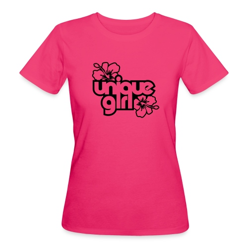 tee shirt rose  - T-shirt bio Femme