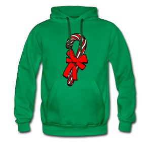 christmas candy cane - Men's Premium Hoodie