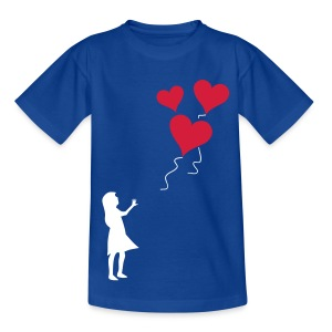 Heart balloon girl silhouette - Kids' T-Shirt