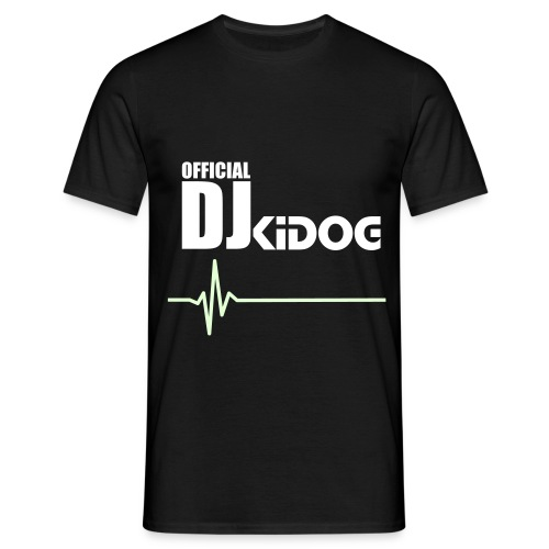 Official DJKiDOG T-Shirt (Black/Glow in the dark) - Mannen T-shirt