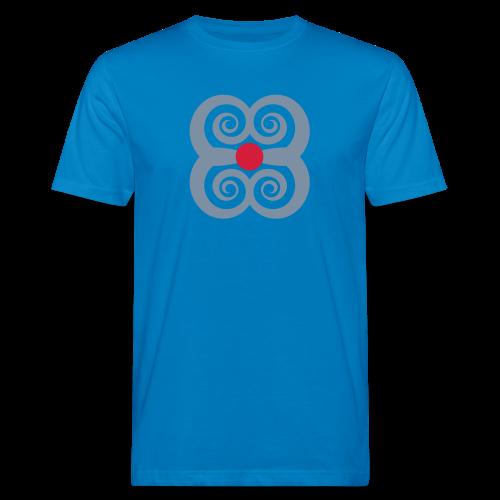 TIAN GREEN Shirts Men - Spirale des Lebens - Männer Bio-T-Shirt