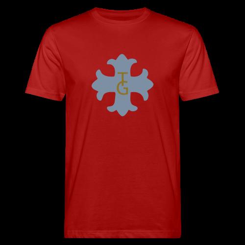 TIAN GREEN Shirts Men - Kreuz mit 12  - Männer Bio-T-Shirt