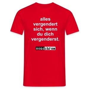 alles vergendert sich - Men's T-Shirt