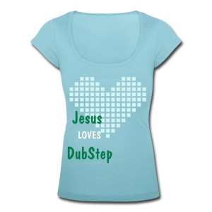 Jesus(L)Dubstep - Women's Scoop Neck T-Shirt