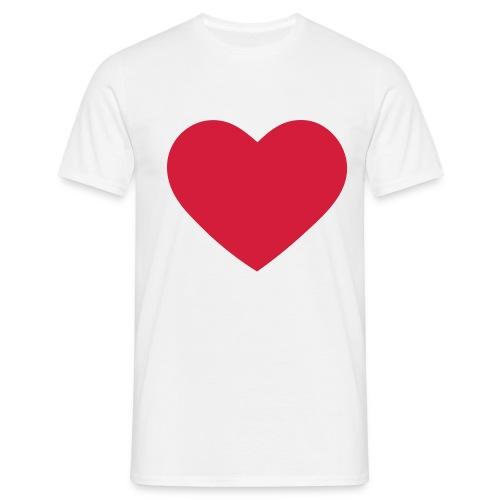 Herz T-shirt - Männer T-Shirt