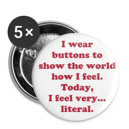 Literal pin small - Buttons small 25 mm