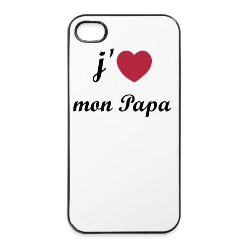 Coque rigide iPhone 4/4S - I love Papa - Coque rigide iPhone 4/4s