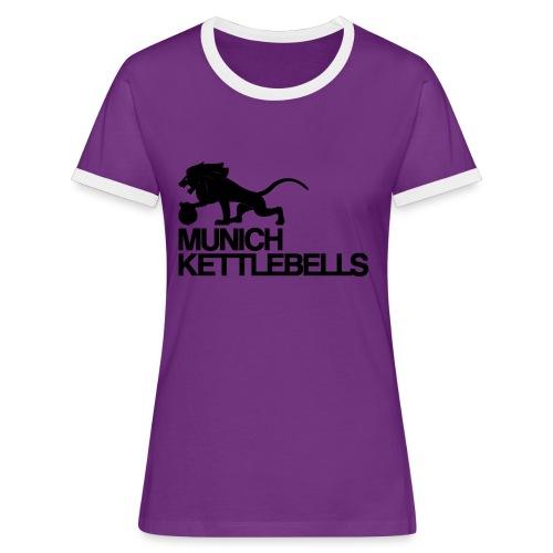 Munich Kettlebells Frauen Retro Shirt lila / Logo schwarz - Frauen Kontrast-T-Shirt