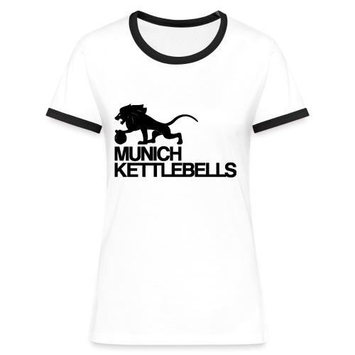 Munich Kettlebells Frauen Retro Shirt weiss / Logo schwarz - Frauen Kontrast-T-Shirt