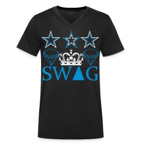 S.W.A.G. KING Part 2 - Männer Bio-T-Shirt mit V-Ausschnitt von Stanley & Stella