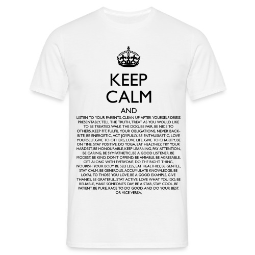 Men's Keep Calm Funny Classic T-Shirt - Men's T-Shirt