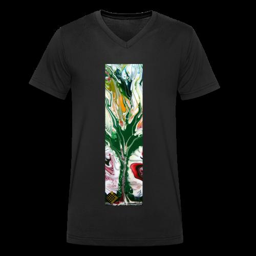 TIAN GREEN Shirts Men - Baum des Lebens - Männer Bio-T-Shirt mit V-Ausschnitt von Stanley & Stella