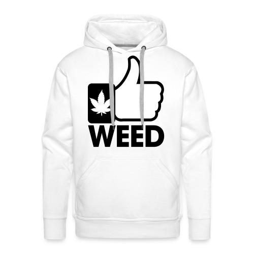Weed Sweat Blanc - Sweat-shirt à capuche Premium pour hommes