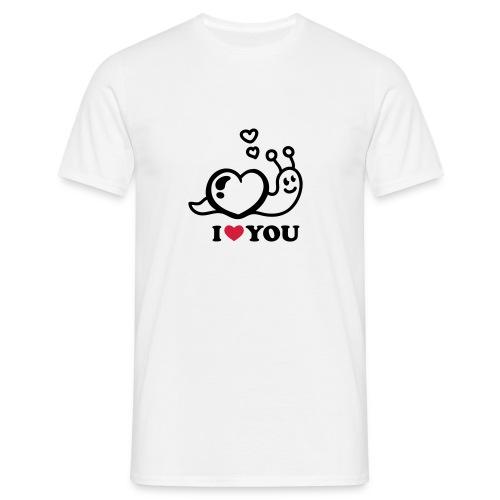 i love you schnecke - Männer T-Shirt