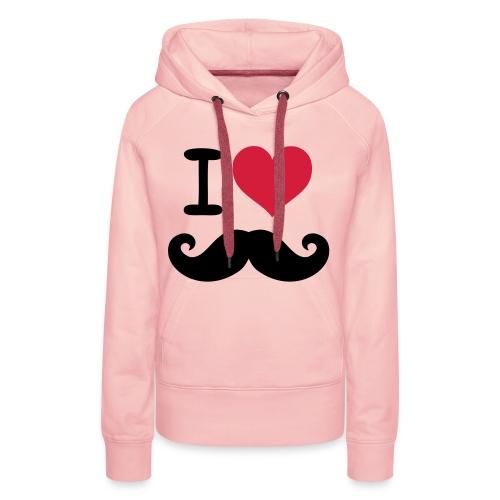 mustache love - Vrouwen Premium hoodie