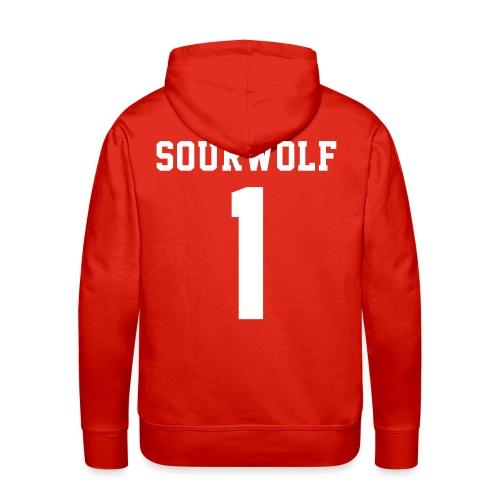SOURWOLF 1 - Hoodie (XL Logo, NBL) - Men's Premium Hoodie