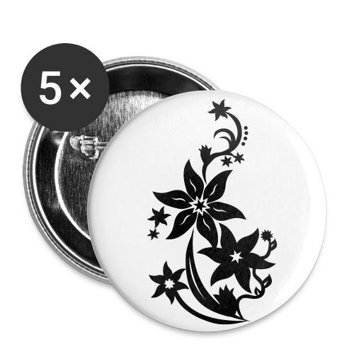 button bloem - Buttons klein 25 mm