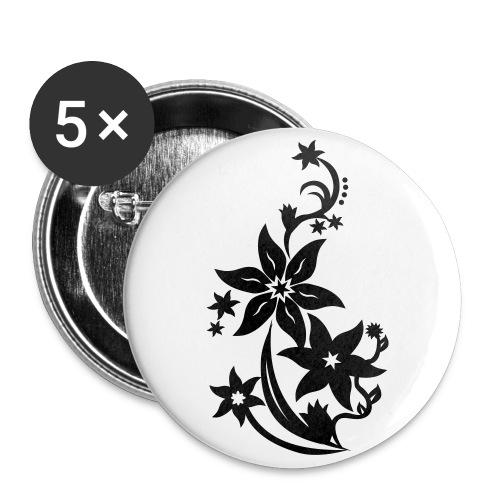 button bloem - Buttons groot 56 mm