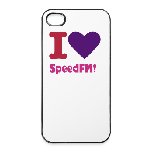 I love SpeedFM Iphone 4/4s hoesje - iPhone 4/4s hard case