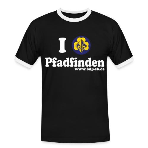 I love Pfadfinden - Männer Kontrast-T-Shirt