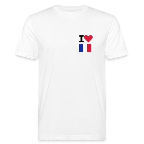 T-Shirt I love France - T-shirt bio Homme