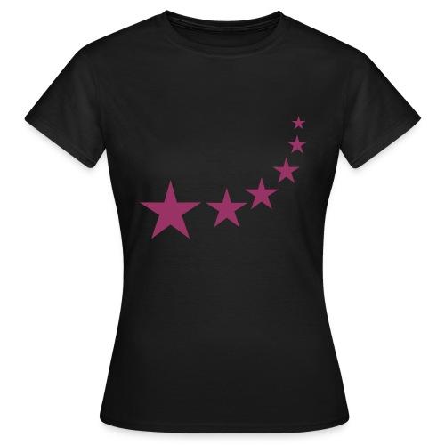Star - Red Glitter - Women's T-Shirt