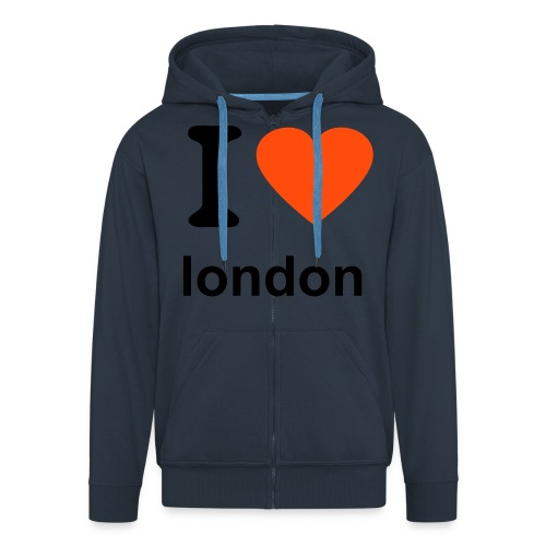 i love london - Men's Premium Hooded Jacket