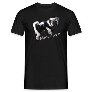 Mops Pirat Männer Shirt - Männer T-Shirt