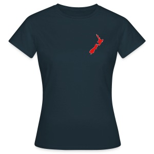 Women's NZ Map Shirt - Women's T-Shirt