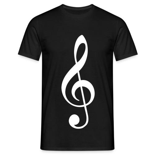 Männer T-Shirt - schwarz,T-Shirt,Shirt,Schlüssel,Note,Musik,Flügel