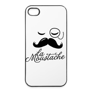 Coque Iphone 4/4S Moustache - Coque rigide iPhone 4/4s