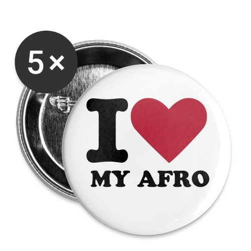 Badges I love My Afro - Badge petit 25 mm