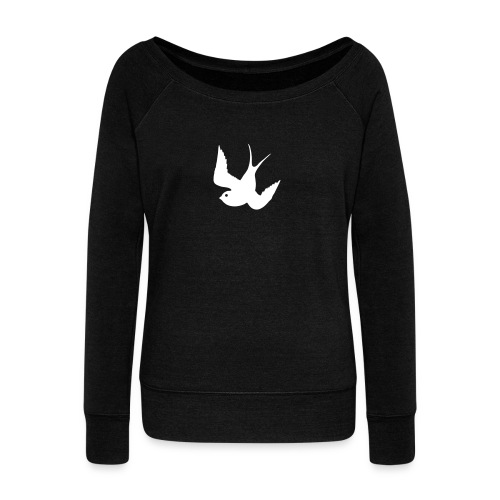 Tattoo Swallows Design Oldschool Birds Freedom - Frauen Pullover mit U-Boot-Ausschnitt von Bella