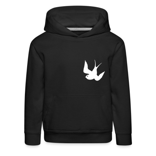Tattoo Swallows Design Oldschool Birds Freedom - Kinder Premium Hoodie
