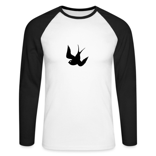 Tattoo Swallows Design Oldschool Birds Freedom - Männer Baseballshirt langarm