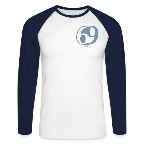 Men's BASEBALL LS-SHIRT- SILVER - Men's Long Sleeve Baseball T-Shirt