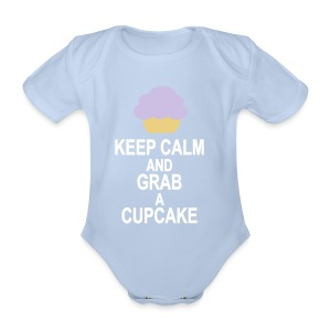 Keep Calm and grab a Cupcake - Baby Bio-Kurzarm-Body