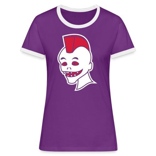 Vintage Retro Comic Zombie Halloween Skull Punk - Frauen Kontrast-T-Shirt