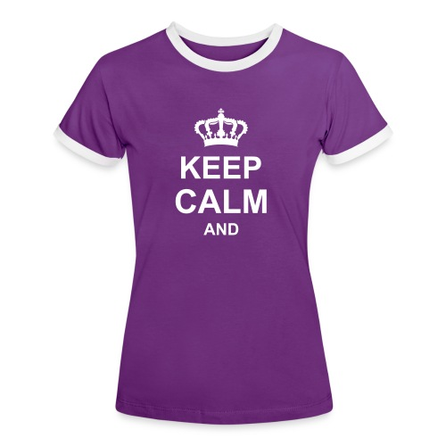 keep_calm_and_g1 T-shirts - Maglietta Contrast da donna