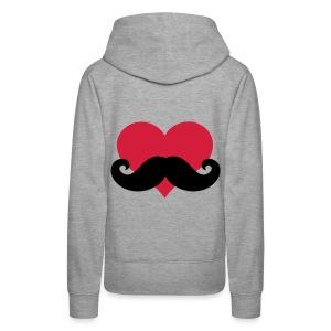Mustache Sweater - Vrouwen Premium hoodie
