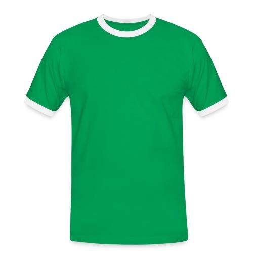 T-shirt - Grøn - Herre kontrast-T-shirt