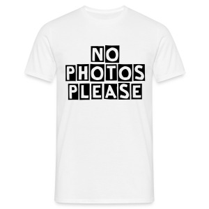 No Photos Tee - Men's T-Shirt