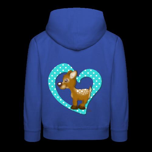 KinderShirt Kira Kitzi Aqua - Kinder Premium Hoodie