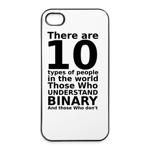 10 Types Of People - iPhone 4/4s Case  - iPhone 4/4s Hard Case