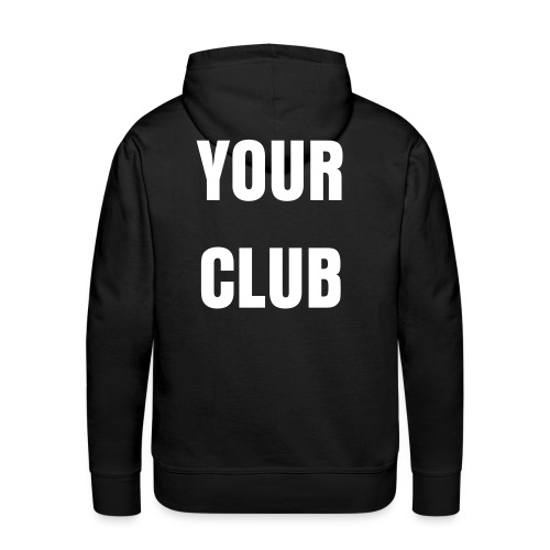 Large Club Print Hoody  - Men's Premium Hoodie